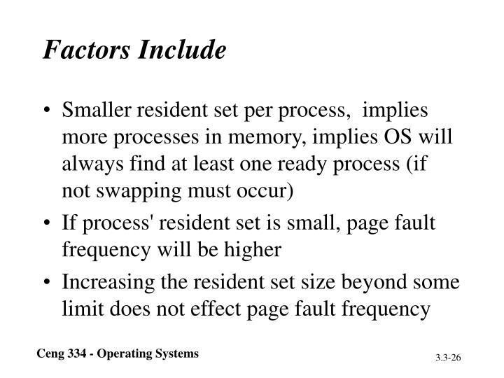 Factors Include