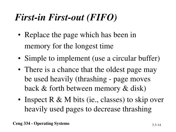 First-in First-out (FIFO)