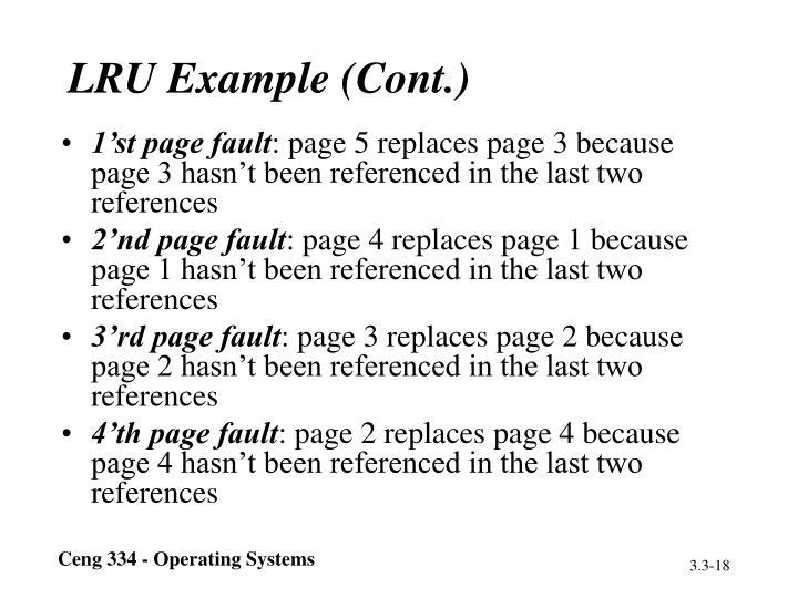 LRU Example (Cont.)
