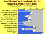 are orthodox church members in the usa frequent and regular church goers