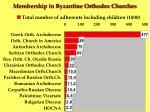 membership in byzantine orthodox churches