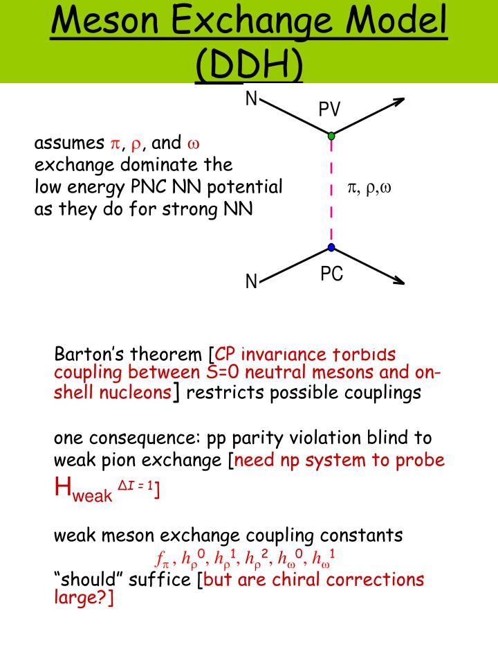Meson Exchange Model (DDH)