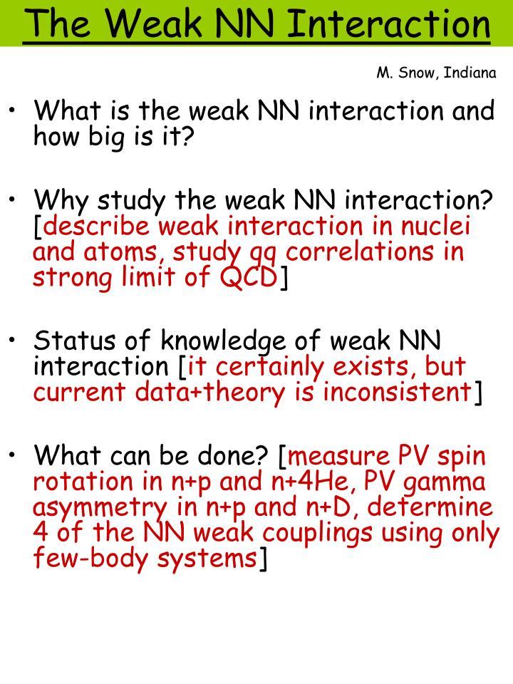 The weak nn interaction