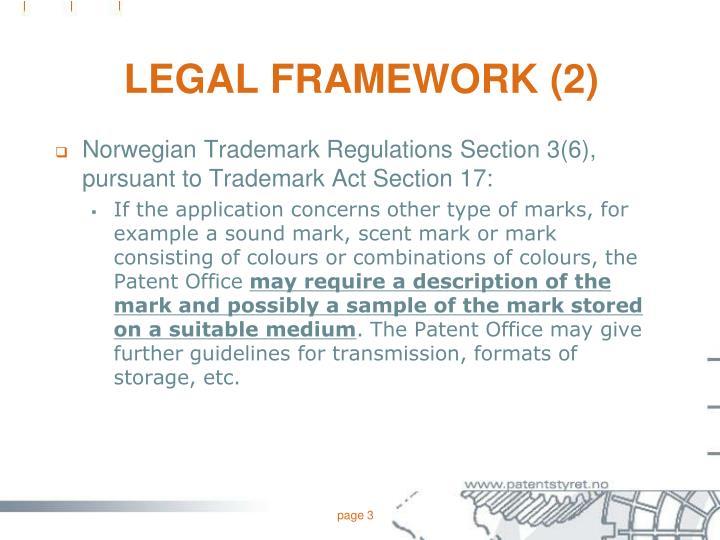 Legal framework 2