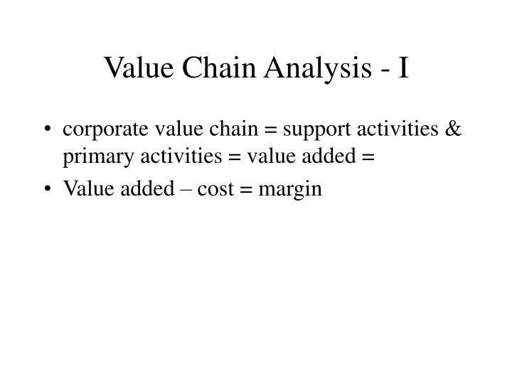 Value Chain Analysis - I