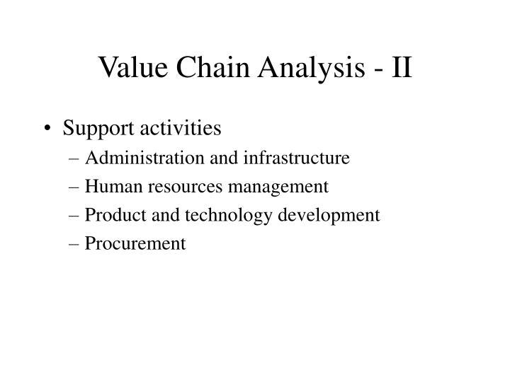 Value Chain Analysis - II