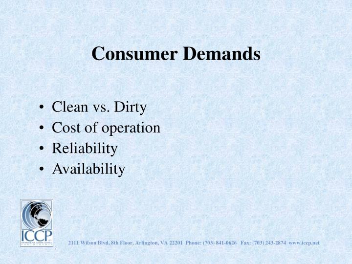 Consumer Demands