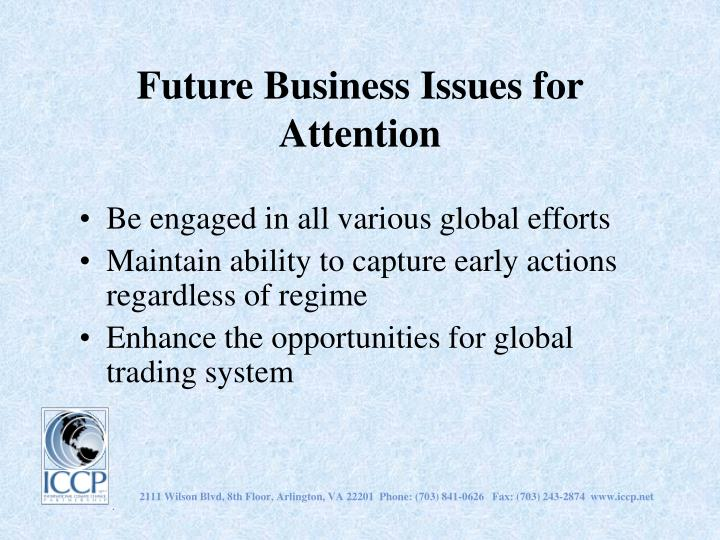 Future Business Issues for Attention