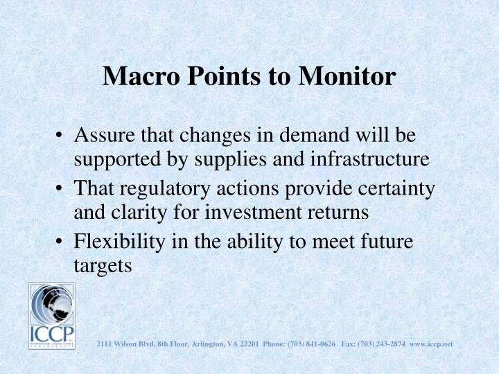 Macro Points to Monitor