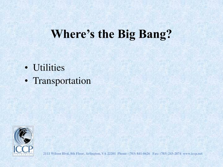 Where's the Big Bang?