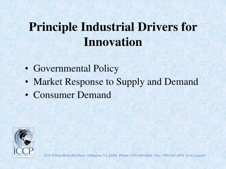 Principle Industrial Drivers for Innovation