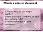 what is a mission statement