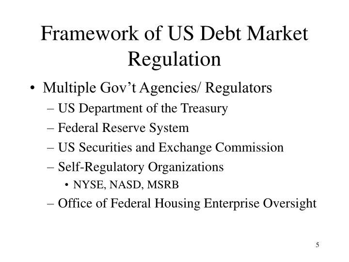 Framework of US Debt Market Regulation