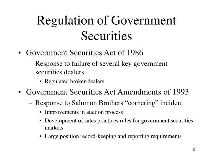 Regulation of Government Securities