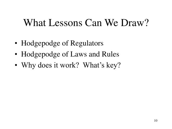 What Lessons Can We Draw?