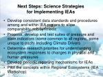 next steps science strategies for implementing ieas