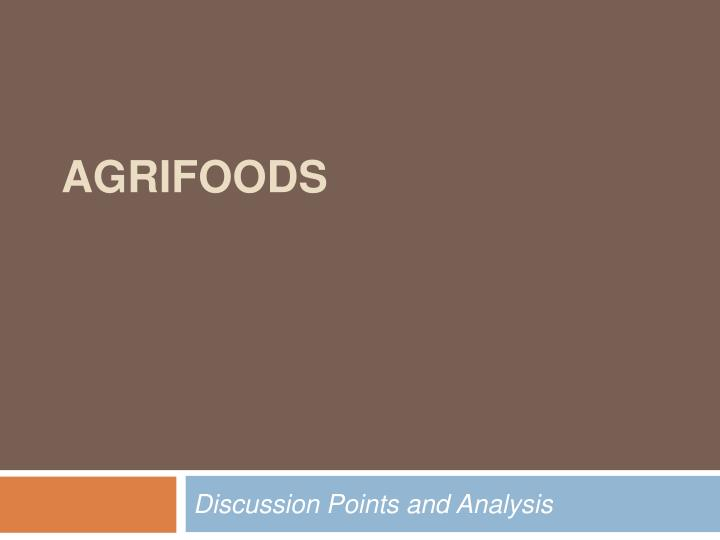 agrifoods n.
