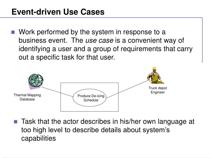 Event-driven Use Cases