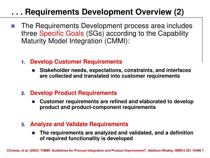 . . . Requirements Development Overview (2)