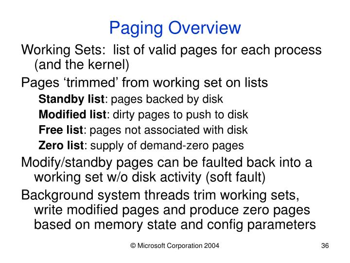 Paging Overview
