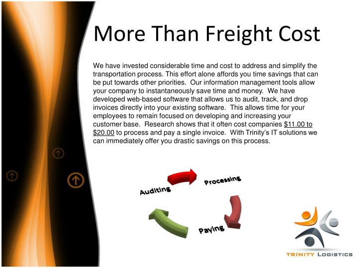 More Than Freight Cost