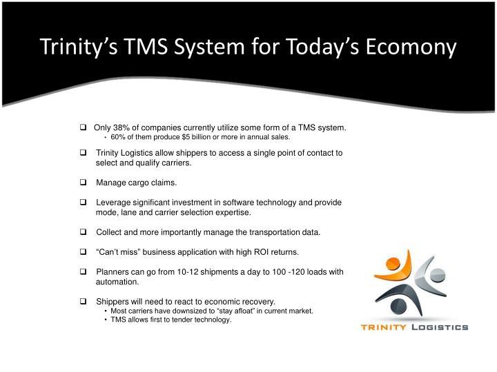 Trinity s tms system for today s ecomony