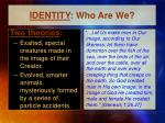 identity who are we