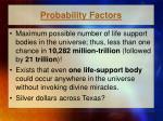 probability factors