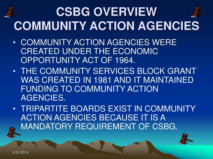 Csbg overview community action agencies