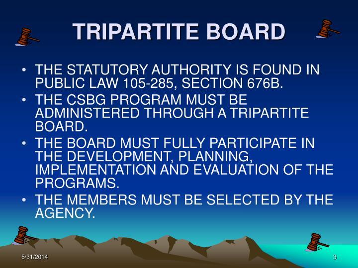 Tripartite board