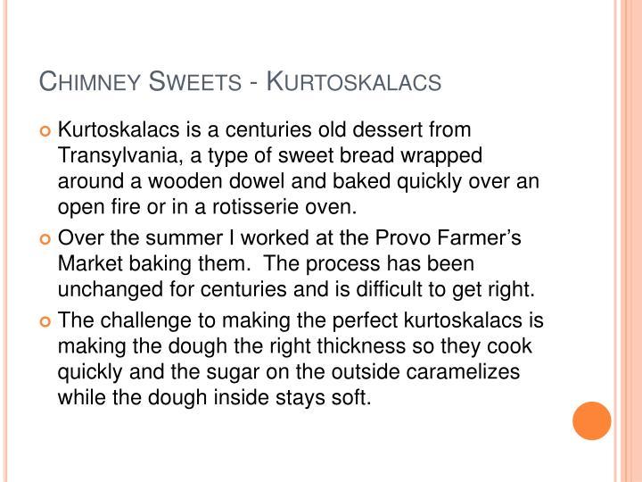 Chimney sweets kurtoskalacs