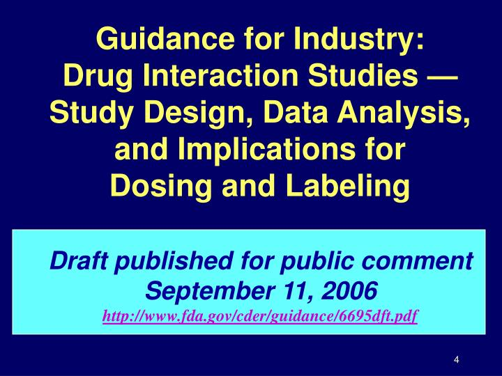 Guidance for Industry:
