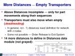 more distances empty transporters