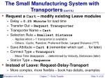 the small manufacturing system with transporters cont d1