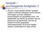 geografi grunnleggende ferdigheter 31