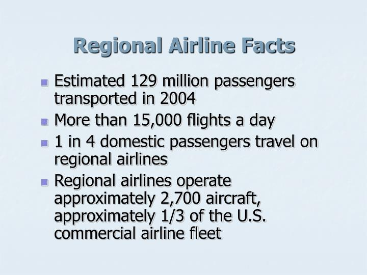 Regional airline facts
