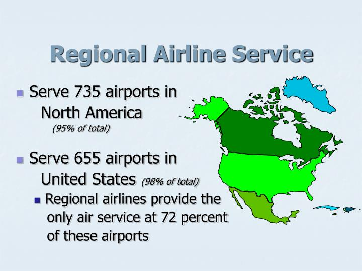 Regional airline service
