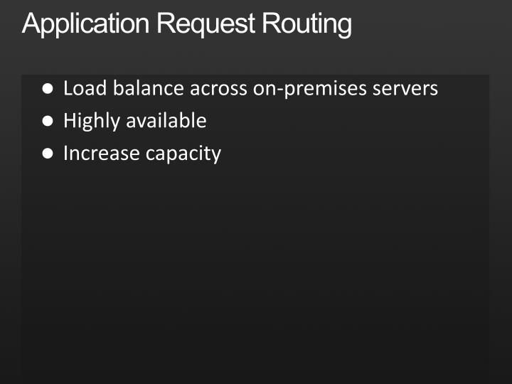 Application Request Routing