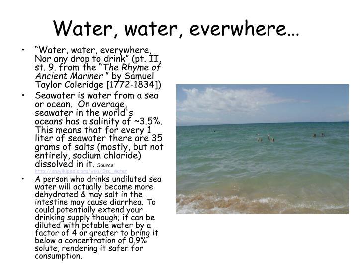 Water, water, everwhere…
