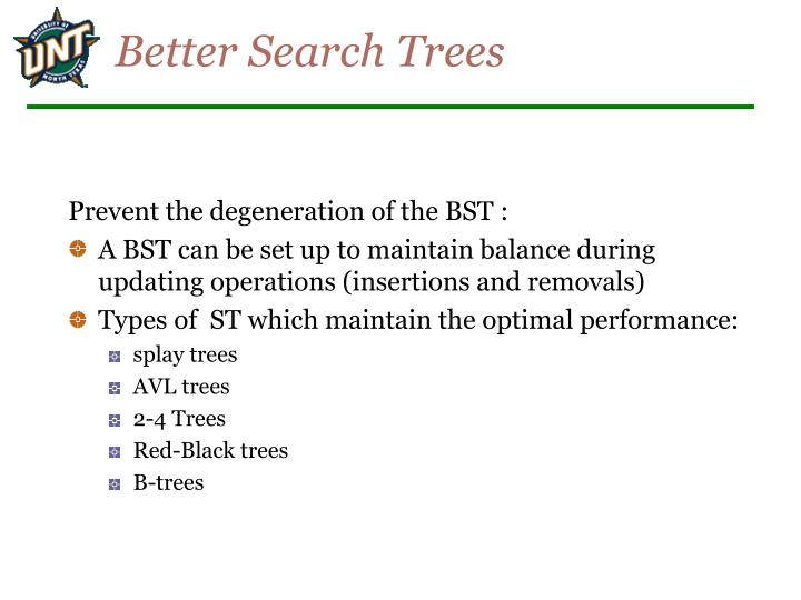 Better Search Trees