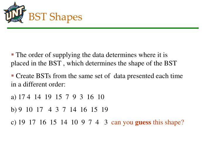 BST Shapes