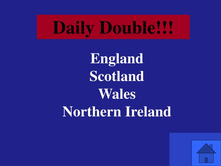 Daily Double!!!
