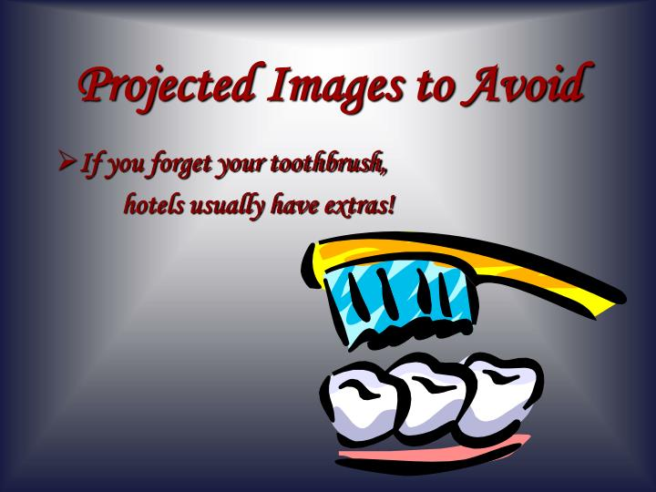 Projected Images to Avoid