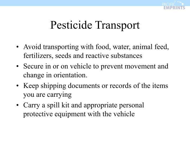 Pesticide Transport