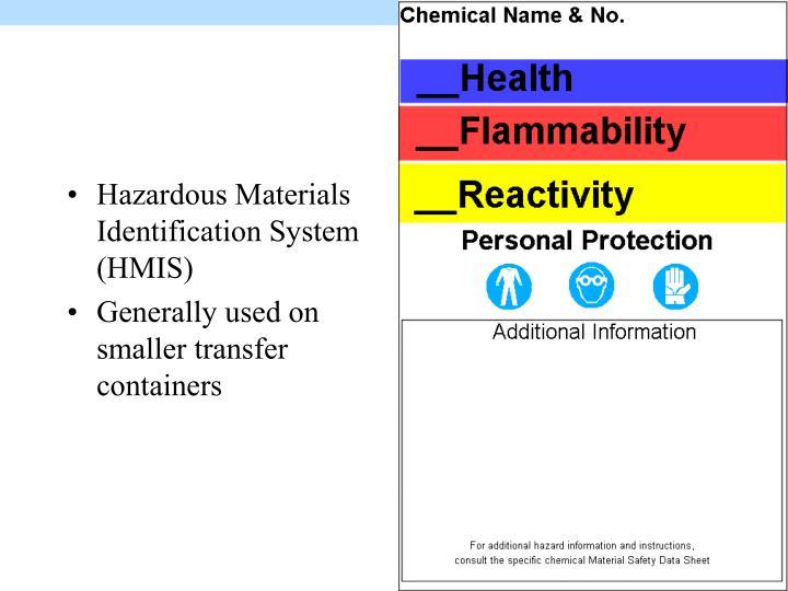 Hazardous Materials Identification System (HMIS)