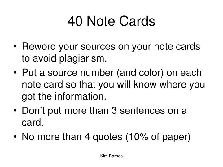 40 Note Cards