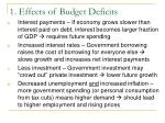 1 effects of budget deficits