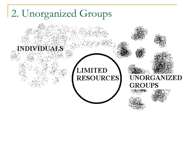 2. Unorganized Groups