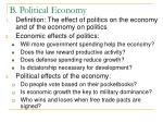 b political economy