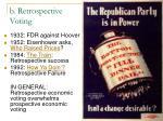 b retrospective voting